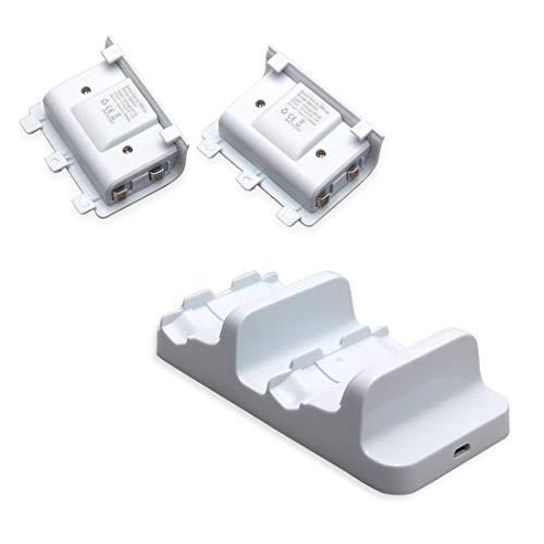 BNFUK Fuer One S-Ladegeraet Ladestation Fuer Zwei Dockingstationen mit 2 Batterie Packs und Usb-Ladekabel Fuer One Controller (Weiss)