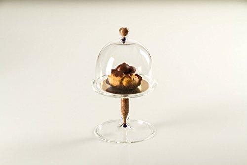 Infusion, présentoir à gâteaux Petite avec dôme en pyrex et liège. CM 16