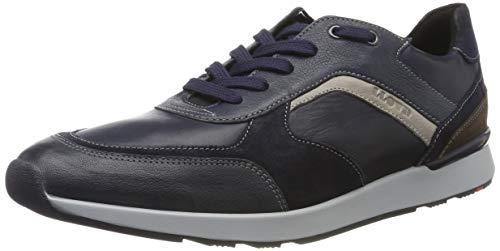 LLOYD Herrenschuh BARI, moderner Herren-Sneaker aus Leder mit Gummisohle, Blau (Blue/Midnight/Ocean/Grey/Ebano 3), 40.5 EU