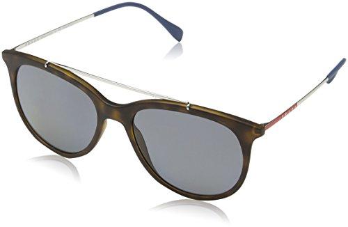 Prada Sport Herren 0PS02TS U61144 54 Sonnenbrille, Braun (Havana Rubber/Polargrey),