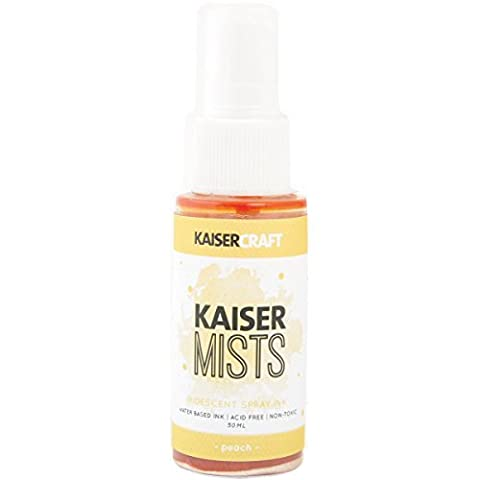 Kaisercraft KAISERmist Iridescent Spray Ink 30ml-Peach, Other, Multicoloured by Kaisercraft