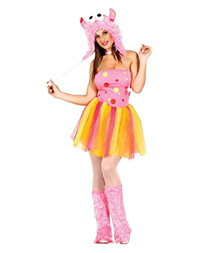 Monster Furry Kostüm - Horror-Shop Sexy Pink Furry Monster Kostüm M