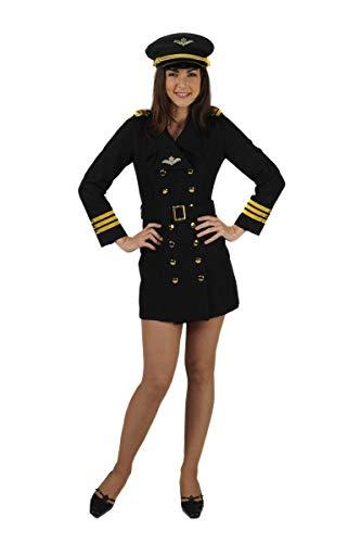Damen Pilot Kostüm - Pilotin / Piloten-Kostüm-Damen (S)