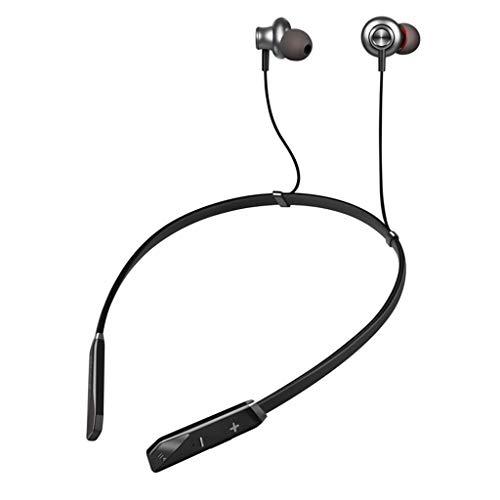 Elospy Drahtlose Bluetooth-Kopfhörer Sport Rauschunterdrückung In-Ear-Ohrhörer Kopfhörer Dual Driver HD-Sound Stereo Bass Headset Für Joggen mit Mikrofon15 Stunden Spielzeit