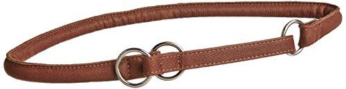 Dogline 1/2breit Weich gerollt Martingal Echt Leder Halsband, 71cm, braun (Soft-martingal-kragen)