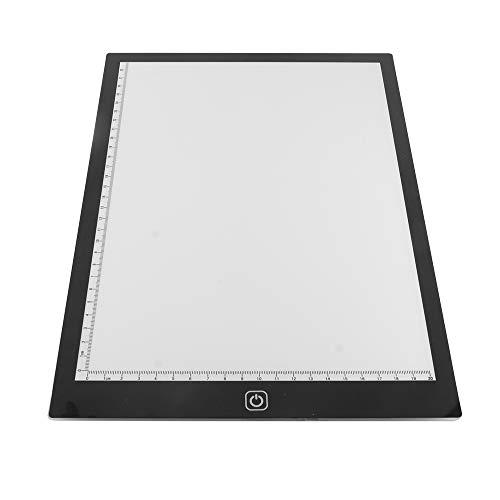 Konesky Aufspürungs-Leuchtkasten, A4 LED-Zeichnungs-Auflage-Ultra dünne Malerei-Brett Dimmable Schreibenstablette mit Helligkeitsstufe 3