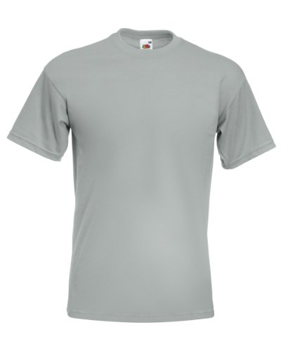 Fruit Of The Loom 61044 Mens Short Sleeve Super Premium T-Shirt Tee Zinc