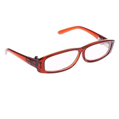 MagiDeal Mode Rechteckig Rahmen Puppenbrillen Gläser Pilotenbrille aus Kunststoff für 1/3 BJD Puppen - # 1