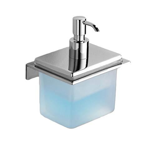 JKL Seifenspender An der Wand befestigter Seifenspender, Nachfüllbare Flüssigkeitsspenderflasche für manuell gefrostetes Glas, 500 ml, verchromt, Kupfer, Hotelzubehör -