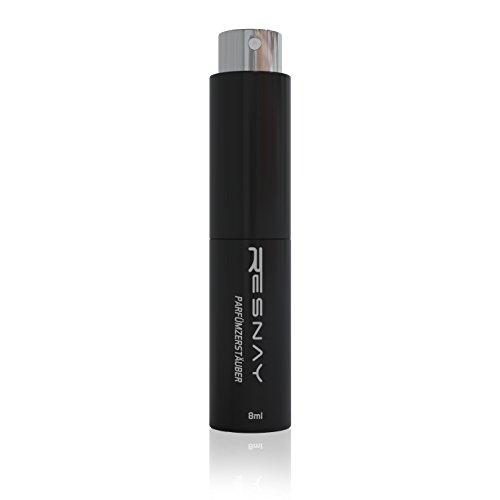 Resnay Parfümzerstäuber / Taschenzerstäuber 8ml, nachfüllbar, Für Damen und Herren - Ideal für unterwegs / Reise / Clubs - mattschwarz Test