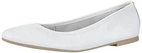 Tamaris Damen 22128 Geschlossene Ballerinas, Weiß (White 100), 38 EU