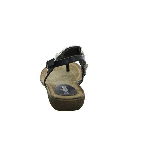 living Updated 288014 Damen Sandalette bis 30mm Absatz Schwarz (Schwarz)