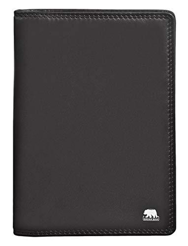 255c8bc9ff545 Brown Bear Business Herren Brieftasche Leder Schwarz mit Rfid Schutz  hochwertig mit Doppelnaht