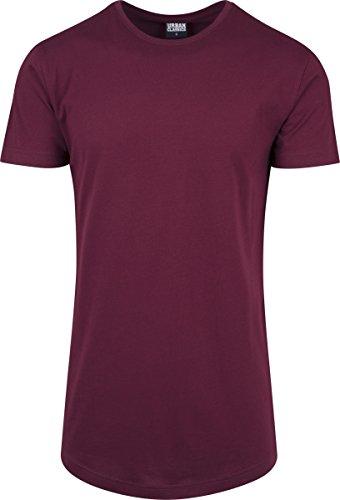 Urban Classics Herren T-Shirt Shaped Long Tee mit Rundhals Rot (Port 1157)