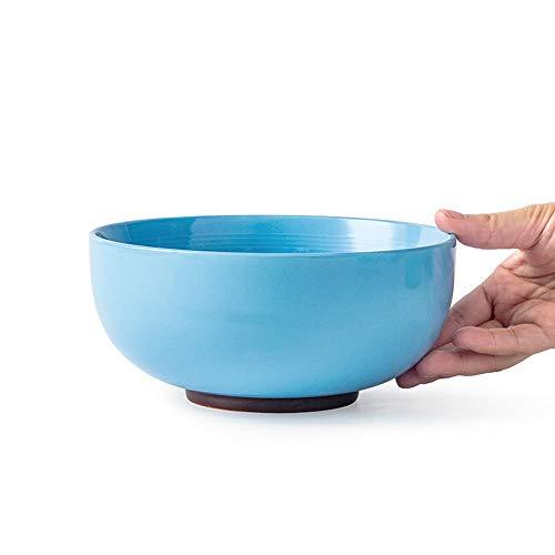 RKY Bol- Bol de soupe de ménage simple japonais mignon bol de nouilles bol de nouilles instantanées bol salade - 5 couleurs, 2 tailles /-/ (Couleur : Bleu foncé, taille : 17.8 * 8.6 * 9cm)