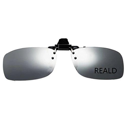 Cyxus 3d brille Kinobrillen Clip on Gläser Eyewears 3D-TV/ Kino/Film/Projektoren Korrekturbrillen Beweglich leicht und komfortabel Ultra-Clear HD Display cinemaxx Heimkino(RealD) (Avatar Hd)
