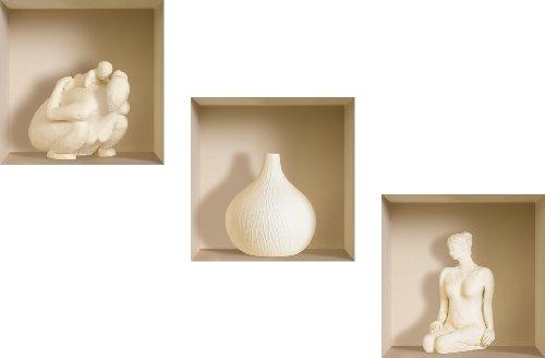 3D Effekt Wandtattoo Keramic Figuren wiederverwendbare Aufkleber anzuwenden