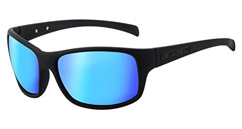 Dirty Dog Phin schwarz blau verspiegelt polarisiert Sonnenbrille 53448