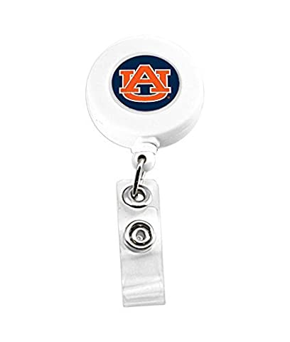 Auburn Tigers Retractable Badge Reel Id Ticket Clip by aminco