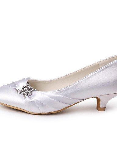 ShangYi Schuh Damenschuhe - High Heels - Hochzeit - Satin - Kitten Heel-Absatz - Absätze / Geschlossene Zehe -Schwarz / Blau / Gelb / Rosa / Lila / Rot Silver