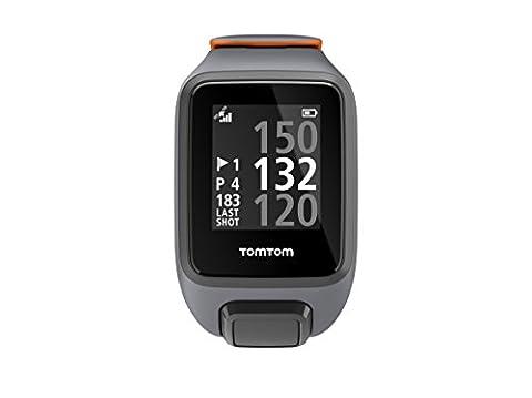 TomTom Golfer 2 SE GPS-Golfuhr, 40,000 vorinstallierten Plätze weltweit, Automatische Schlagerkennung und ScorekarteAnsicht des Grüns und Distanzen zum Grün, grau/orange