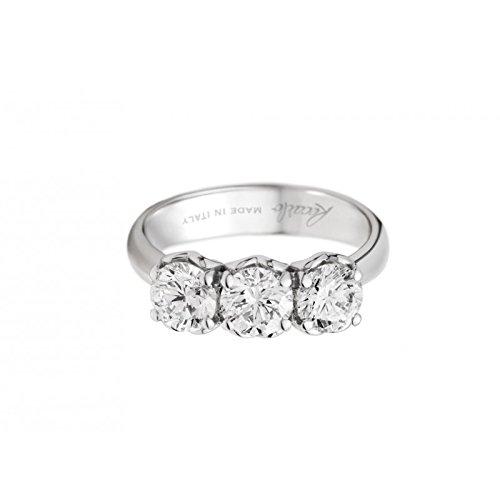 Recarlo - Anello trilogy Recarlo in oro bianco 18 kt carati con diamanti.