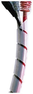 Tecline - spirale tubo cavo, 6-60 mm, colore naturale, 10 m
