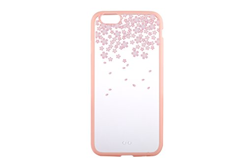Cover iPhone 5S,Cover iPhone SE,Cover iPhone 5,Cover Custodia Case per iPhone 5S / 5 / SE,ikasus® 2 IN 1 Crystal Clear Hard PC & TPU con il modello di Rosa Fiori di ciliegio fiore dipinto per iPhone 5 Colore # 6