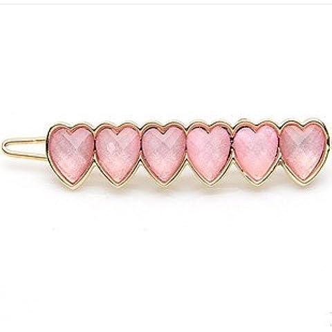 Beautiful delicato ciondolo in oro rosa a forma di cuore a grappolo, a forma di rana, Pin HA30 accessori per capelli - Gioielli Della Rana Pin