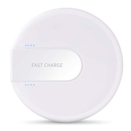 XLTOK Cargador Inalámbrico Rápido 10W, Fast Wireless Charger para iPhone XS/XS MAX/X / 8/8 Plus,Samsung Galaxy S9 Plus / S9 / S8 / Note 8(Blanco)