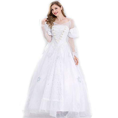 DUQA Halloween kost¨¹m Cosplay Halloween Prinzessin kost¨¹m sch?ne Prinzessin Kleid wei? hochzeitskleid (Baby Genie Kostüm)