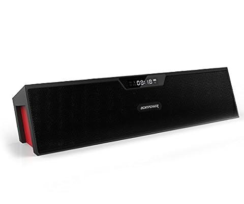 ECHTPower Tragbarer Bluetooth stereo Lautsprecher, Kabelloser Lautsprecher Bluetooth Musik Boxen