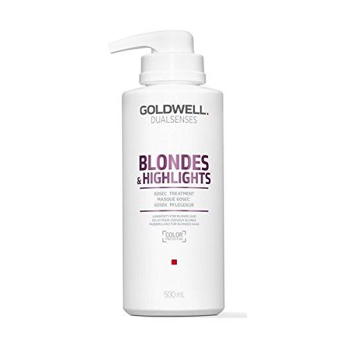 Goldwell Dualsenses Blondes & Highlights 60 seconds Treatment- Pflegekur, 1er Pack (1 x 500 ml)