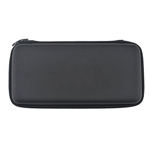 Asiv® Duro Cuero de la PU Protección Cremallera Almacenamiento Portátil Bolso con Bolsillo de Malla y Correa de Sujeción para Nintendo Switch Consola Negro