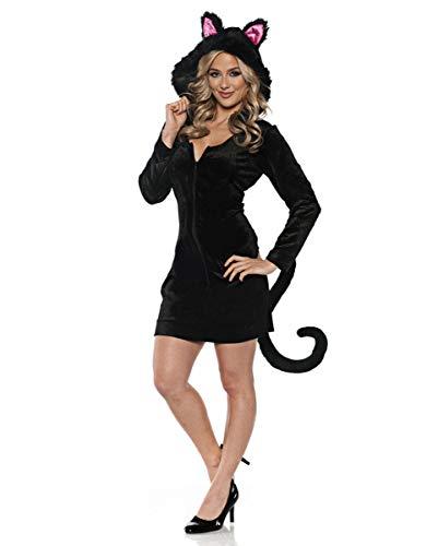 Horror-Shop Kostümkleid Schwarzes Kätzchen | S-XL - Kuscheliges Kätzchen Kostüm