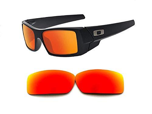 Galaxylense Herren Ersatzgläser für Oakley Gascan Sonnenbrillen Polarisiert Rot