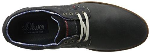 s.Oliver 13201, Chaussures Bateau Homme Bleu (NAVY/COGNAC 831)