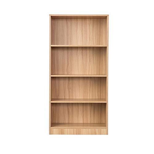 YST Bücherregal HX Bücherregal Free Combination Bücherregal Multi-Layer mit Türschließfach Regal Einfache Moderne Schrank Mehrschichtiges einfaches Lagerregal (Color : Oak) - Oak Media Storage