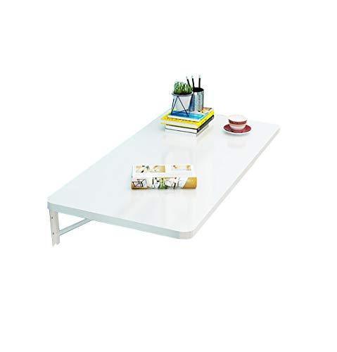 YHDD White Folding Dinning Table Umweltfreundliches Blatt Wandmontiertes Drop-Leaf-Lernpult für Studien (größe : 80x40cm)