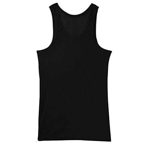 Malloom Männer Tank Top für Bodybuilding und Fitness-Weste-Hemd-T-Shirt (M, Schwarz)