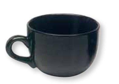Jumbo Extra Kaffeetasse groß aus Keramik Tasse & Suppe 22Unze, Schwarz (2Stück)