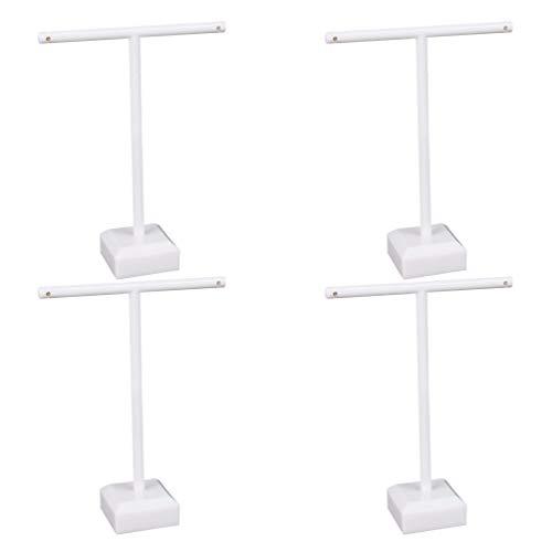Cabilock 4 stücke Ohrringe Display ständer weiß t-Form acryl Ohrstecker Halter Display Rack schmuck veranstalter für Handwerk Zeigen Shop Hause