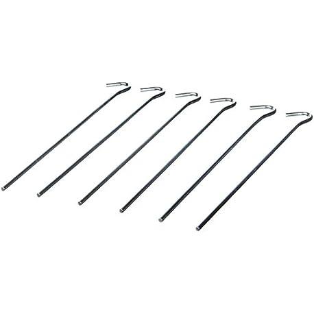 VAUDE Heringe Steel Peg VPE6 Estaca para Tiendas de campa a Talla 22 cm