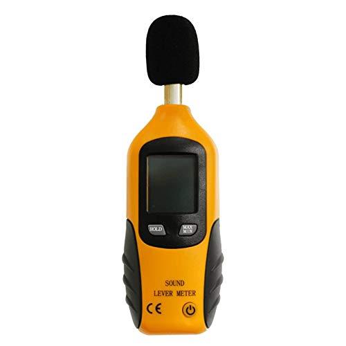 HT-80A Mini tragbare Größe Schallpegelmesser LCD-Digitalanzeige Noise Tester Noise Decibel Monitor Druckprüfer - Schwarz & Gelb & Grau