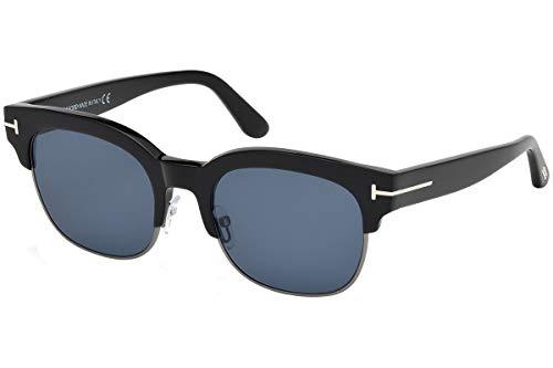 Tom Ford FT0597 Harry Sonnenbrille Schwarz Mit Blauen Gläsern 01V TF597 597