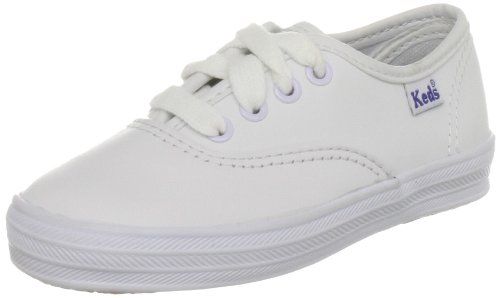 Keds Kids CHAMPION CHAMPION CVO-Canvas - Zapatos de lona para niños, color blanco, talla 23.5