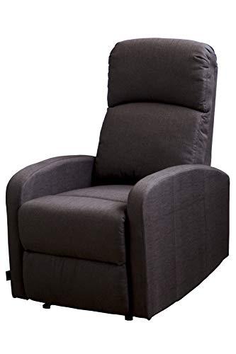 Astan Hogar Premium Relax Plus - Sillón con reclinación manual, tapizado en tela, compacto,  Marrón (Chocolate)