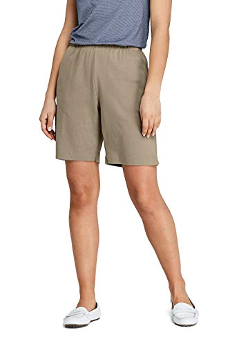 Lands' End Damen Hoher Sport Knit Shorts - beige - Klein -