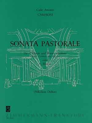 Sonata pastorale: für 4 Flöten und Bc (Orgel, Cembalo, Klavier) (Und Flöte Klavier Für Sonaten Vier)