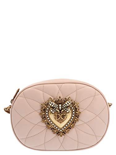 Dolce E Gabbana Borsa A Spalla Donna Bb6704av96780412 Pelle Beige